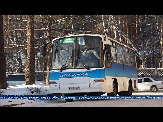 В Ангарске пешеход попал под автобус