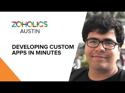 Developing Custom Apps in Minutes - Aditya Tandon - YouTube