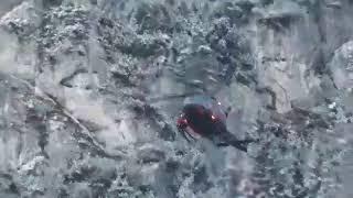 Helikopter GRS Koroške reševanje poškodovanjega planinca na Peci