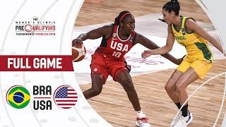 Brazil v USA - Full Game - FIBA Women's Olympic Pre-Qualifying Tournaments 2019