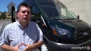 2015 Ford Transit-350 HD High Roof Diesel Test Drive Video Review