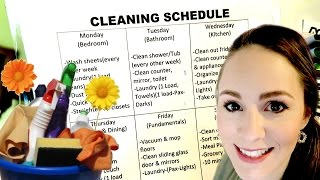 MY CLEANING SCHEDULE!