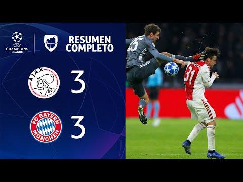 Ajax 3 -3 Bayern Múnich – GOLES Y RESUMEN - Grupo E - UEFA Champions League