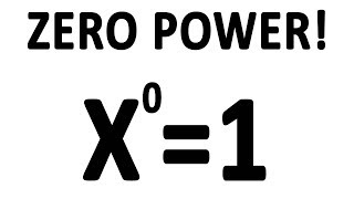 Why do numbers to the power of 0 equal 1?