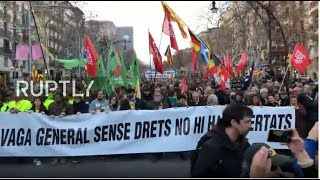 LIVE: Protest Against Trial Of Separatist Leaders Hits The Streets Of Barcelona