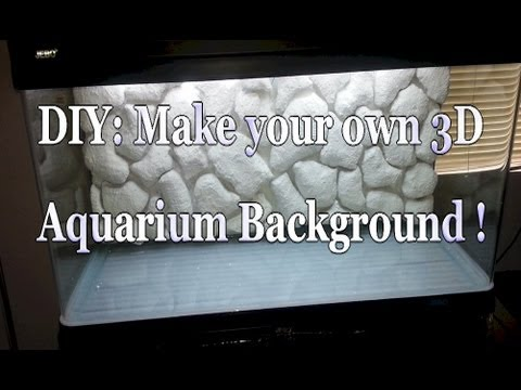 Diy 3d Aquarium Background 80 Gallon Aquarium