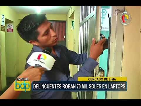 Cercado de Lima: delincuentes roban 70 mil soles en laptops