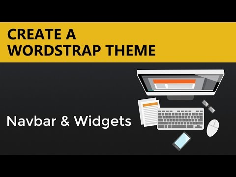 Wordpress Theme Tutorials | Wordstrap Theme - Navbar and Widgets