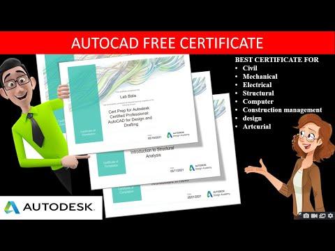 AUTOCAD FREE CERTIFICATE|AUTODESK PROFESSIONAL ...