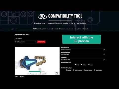 Produktkatalog von 5th Axis auf CAD-Content-Plattform von TraceParts verfügbar