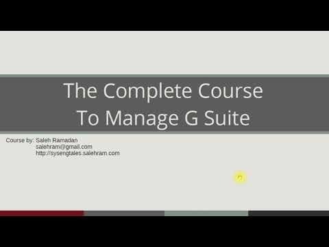 G Suite administrator training course trailer - YouTube