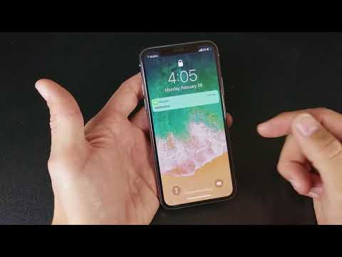 iPhone X: How to Turn On Flashlight & Camera from Lock Screen