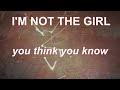 Not The Girl