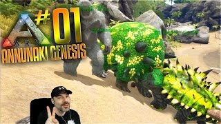Ark Annunaki Genesis Mod Gameplay - S2 Ep 1 - Golden Treat Taming Spree!  Pooping Evolved Server