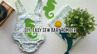 DIY- How To Make Baby Romper ( Easy Sew For Beginners)