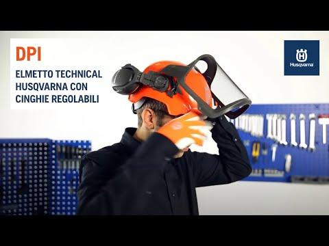 Elmetto forestale Technical Husqvarna con cinghie regolabili