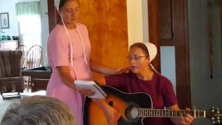 Bigger Than All My Problems - Amish sisters sing/play guitar
