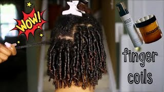 Finger Coils On My Sister's TYPE 4 Natural Hair | Ft. Style Factor Line | Frizzeecurlz♡