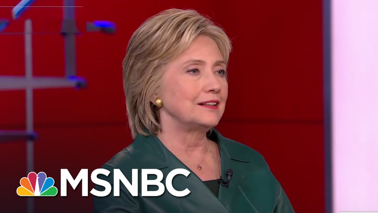 Hillary Clinton Holds Out Hope For GOP Cooperation   Rachel Maddow   MSNBC thumbnail