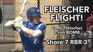 Shore Regional 7 Red Bank Regional 3 | Strike Out Autism | Cody Fleischer 2 run BOMB