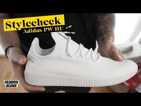 Adidas Pharrell Williams Tennis Hu whiteftwr whitechalk