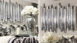 High-End DOLLAR TREE DIY Home Decor | DIY Glam Wall Decor From Foamboard!