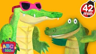 Crocodile Alligator Song (2D) | +More Nursery Rhymes & Kids Songs - Cocomelon (ABCkidTV)