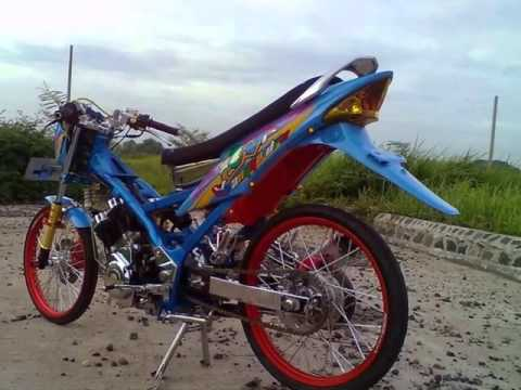 Video Modifikasi Suzuki Satria fu 150 Warna Biru Cantik Chrome