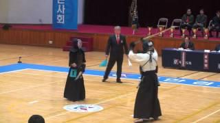 2015 대통령기 검도대회 남자부 8강 - 박상수 vs 김태현 [검도V] 동영상