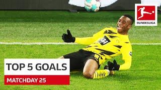 Top 5 Goals • Gnabry, Moukoko & More   Matchday 25 - 2020/21