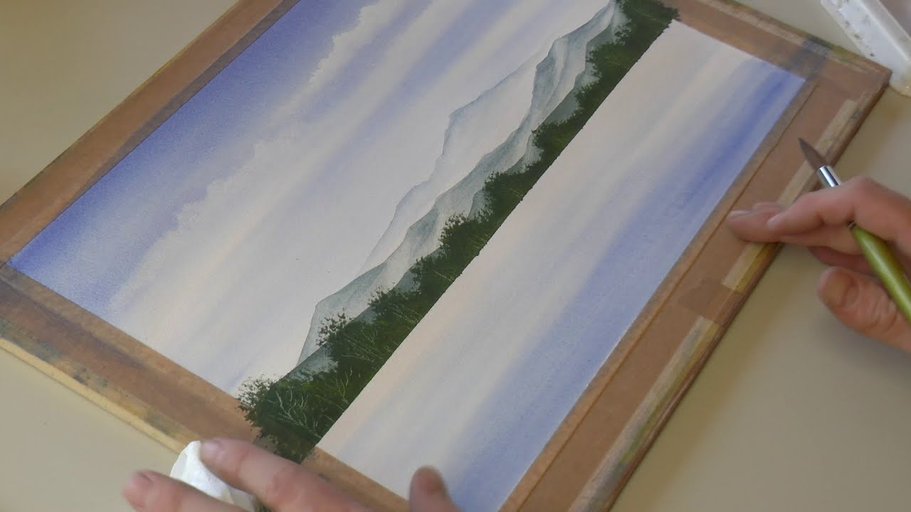 watercolor painting landscape by matthew palmer