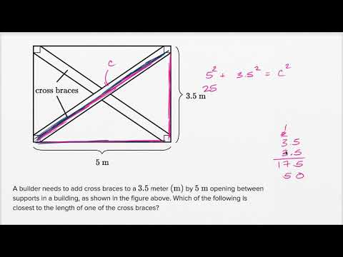 Right Triangle Word Problems Basic Example Video Khan Academy