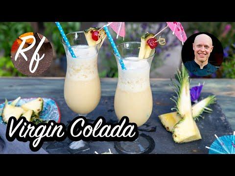 Virgin Colada är min alkoholfria variant på Piña Colada cocktail utan rom.>