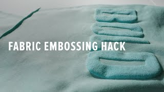 How To Emboss Fabric With Screen Printing