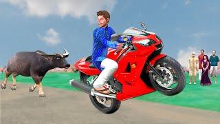 बाइक स्टंट Bike Stunt Fails Village Comedy हिंदी कहानियां Funny Hindi Kahaniya Hindi Comedy Stories
