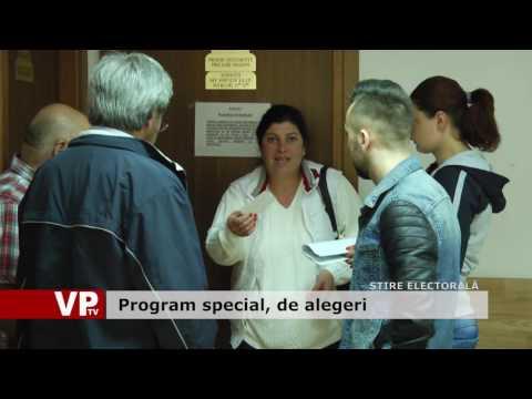 Program special, de alegeri