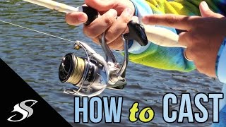 How To Cast A Spinning Reel/Rod - For Beginners