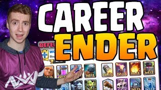 THE REASON WHY WONDERBRAD DELETED HIS CHANNEL - Career Ender Deck | Clash Royale