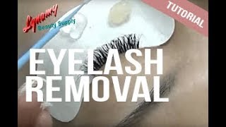 Eyelash Extension Removal Technique