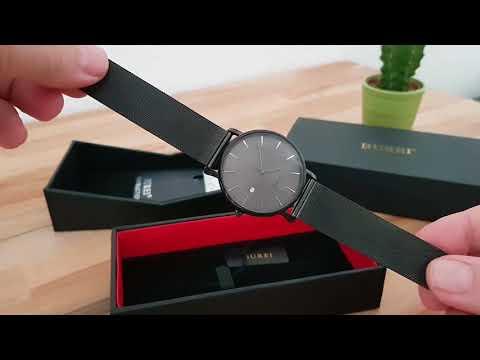 Flach und schick - Armbanduhr von Burei