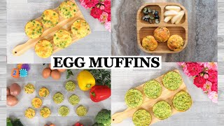 FINGER FOOD RECIPES FOR BABY,TODDLER & KIDS | EGG MUFFINS FOR BABIES | EGG MUFFIN FOR TODDLERS | BLW