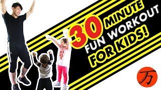 Kids fitness workout, 30 minute exercise routine! by Ten Thousand Method
