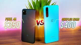 Google Pixel 4a vs OnePlus Nord - Gaming, Speaker Camera!