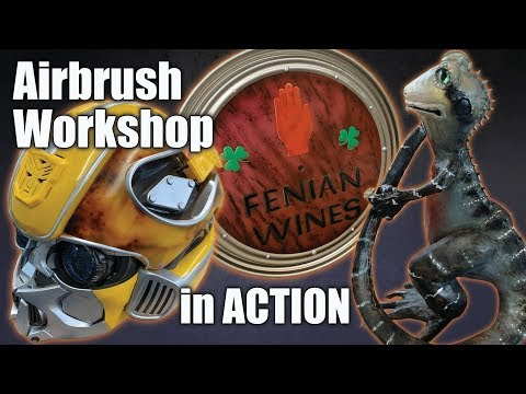 Learn how to Airbrush in our Level 2 airbrushing workshop - YouTube