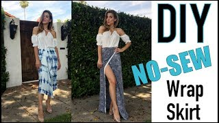 DIY: How To Make A Sexy NO-SEW Wrap Skirt - By Orly Shani
