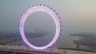 World's biggest shaftless Ferris wheel turns heads in east China