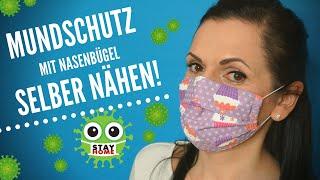 Mundschutz mit Nasenbügel ganz einfach selber nähen!