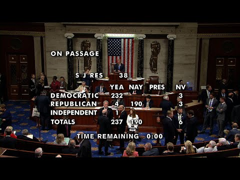The House voted to block President Trump's administration from selling weapons and aircraft maintenance support to Saudi Arabia on Wednesday. The house passed three resolutions, which the President has pledged to veto. (July 18)
