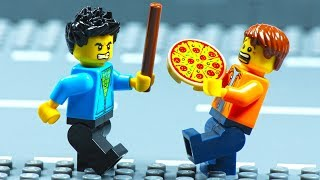 Lego City Motorcycle Pizza Delivery Fail