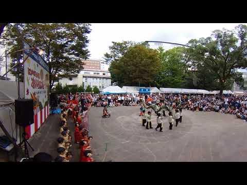 【VR 4K】長崎北保育園ちびっこくんち龍踊@江戸町公園